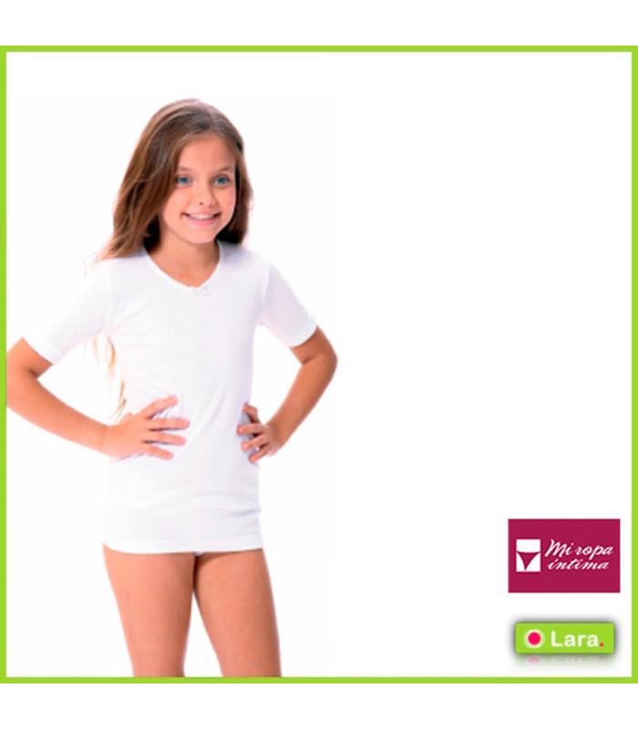 Camiseta interior niña manga corta térmica lara 8600 talla