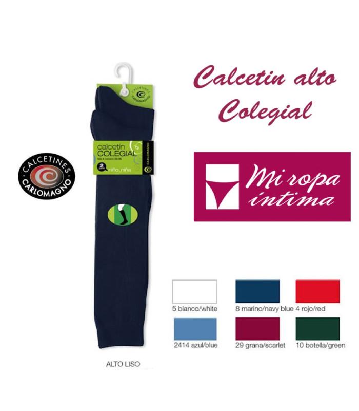 PACK-2 CALCETÍNES ALTOS COLEGIALES CARLOMAGNO REF. 5105 de venta online donde comprar desde casa es posible al mejor precio