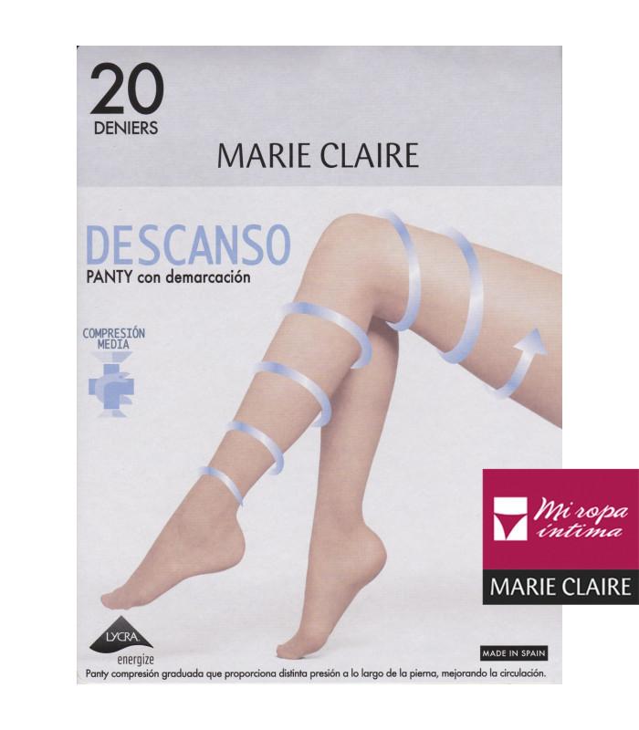 Panty Descanso Marie Claire con demarcación 20den 4567