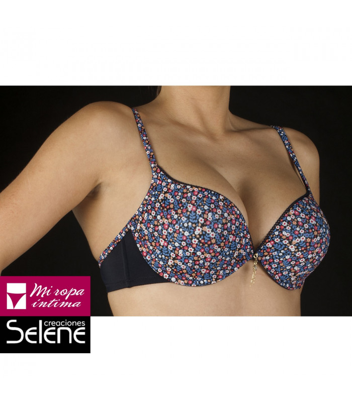 Doble Push Up Raisa copa B sujetador selene estampado cod. 143