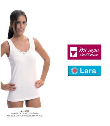 Camiseta Mujer Fantasia tirantes Algodón Canale Lara 9720