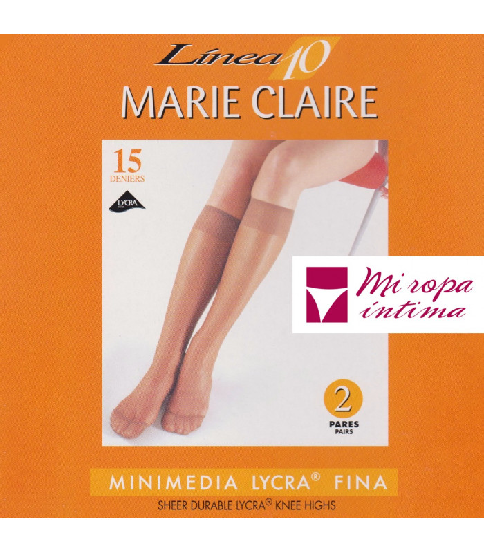 Pack-2 Pares Mini-Media Lycra 15DEN Marie Claire art. 2550