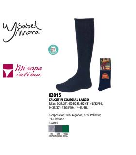 Calcetín LARGO Colegial Ysabel Mora 02815