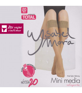 Mini Media 20DEN Relajante Pack-2Pares Ysabel Mora linea activa 20 ref.15122