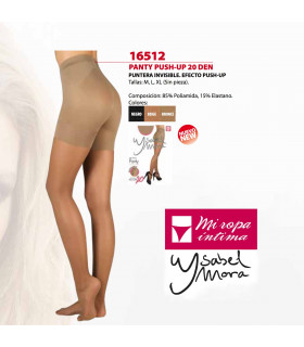 Panty PUSH UP Relajante y puntera invisible 20DEN 16512