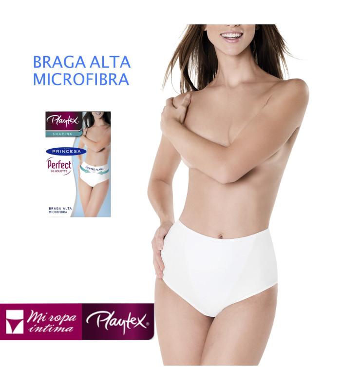 PERFECT SILHOUETTE Playtex, Braga Alta Microfibra Vientre Plano