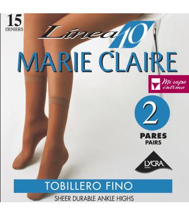 TOBILLERO MARIE CLAIRE LYCRA 15DEN Pack-2 PARES ref. 2540