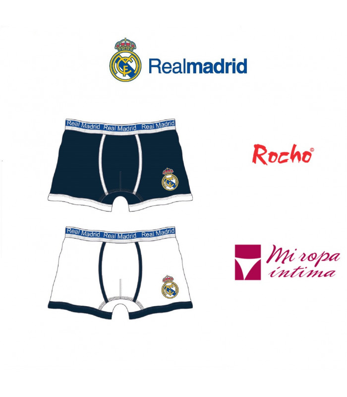 Boxer de niño pack-2 Real Madrid producto oficial mod-602N
