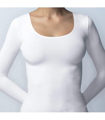 Camiseta Sra. PEACH SKIN manga larga 61388 Marie Claire