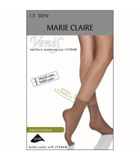 Calcetín de MediaTobillero 15DEN Marie Claire 2444 pack 2 pares cod. 02444