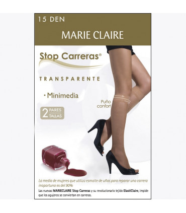 Mini media 15DEN Stop Carreras Marie Claire 2780 transparente cod. 02780