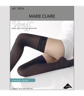 Media 40DEN Opac con liga de blonda Marie Claire 3532