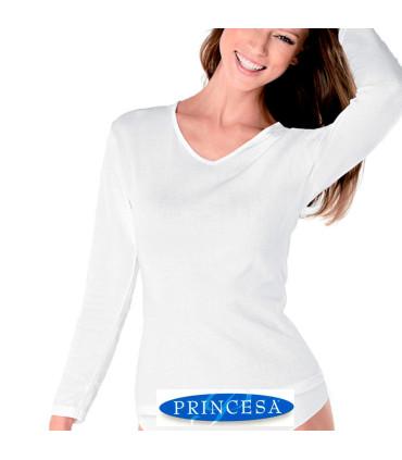 Camiseta thermal interior de mujer 100% Algodón ref:4798 Princesa