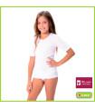 Camiseta Niña interior sin felpa manga corta y cuello de pico Art, 8608 Lara