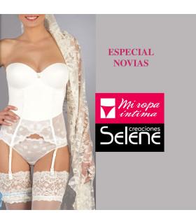 CORPIÑO PUSH UP Copa B CLAIRE especial para novias de creaciones Selene mod.4004