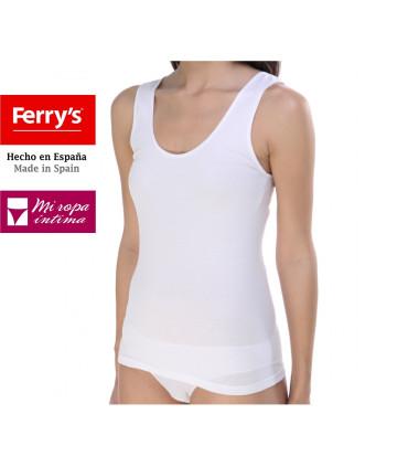 Camiseta Tirante Ancho Mujer Algodón lycra sin costuras 5867 Camiseta Nina Ferry