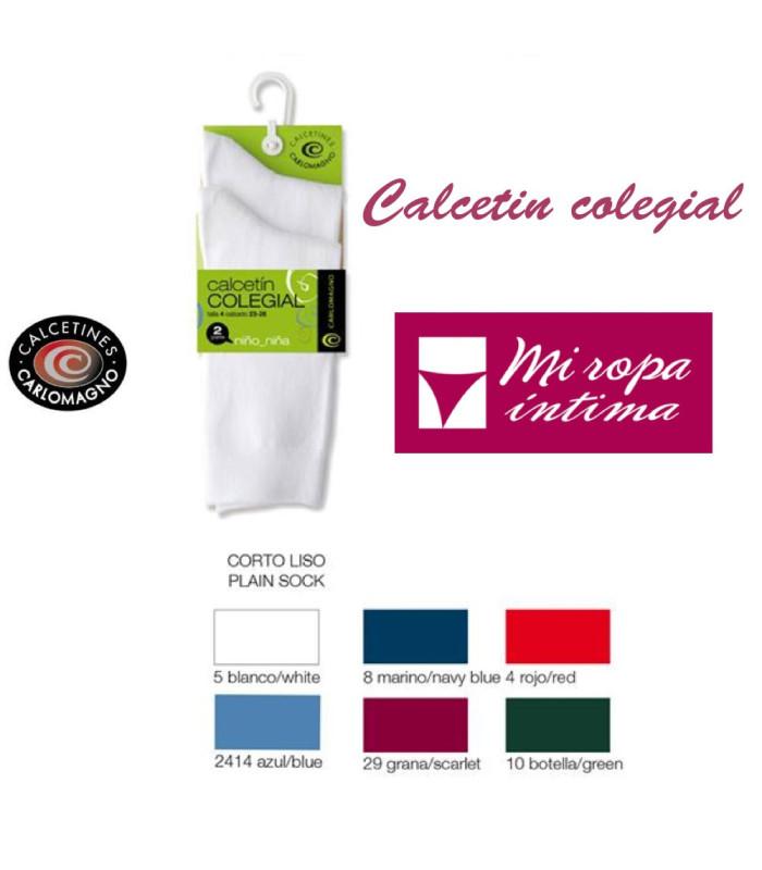 Pack-2 Calcetínes Colegiales Carlomagno 523 de Venta online donde comprar como en casa es posible al mejor precio