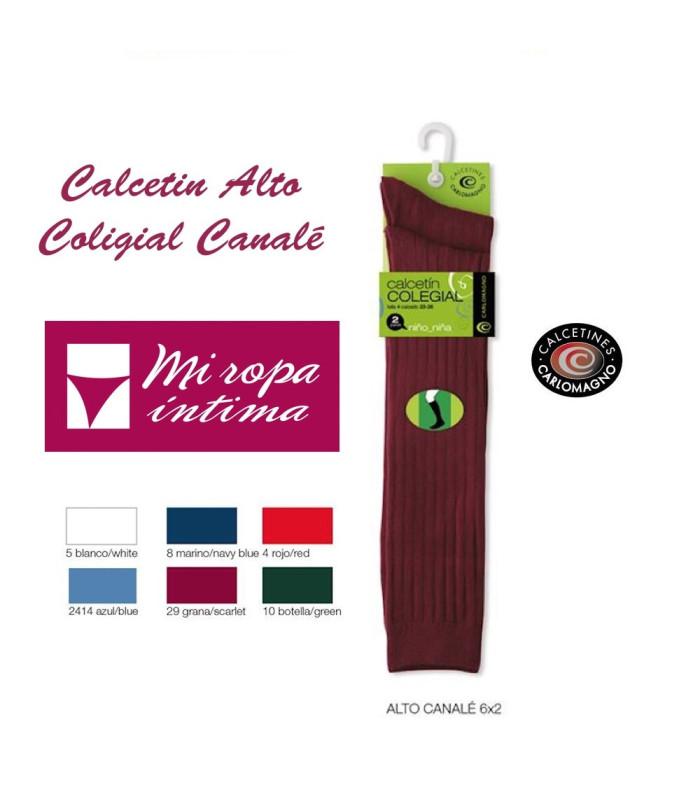 PACK-2 CALCETÍNES ALTOS DE CANALÉ COLEGIALES CARLOMAGNO REF. 5180 de venta online al mejor precio