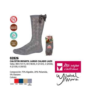 Calcetín Largo Lazo Calado Ysabel Mora 02826