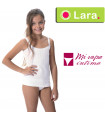 Camiseta tirante niña algodón calada Lara 8611