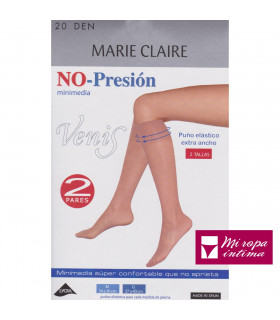 NO-PRESIÒN Minimedias 20DEN Puño Elástico Extra Ancho Marie Claire 2519
