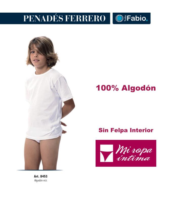 8453 camiseta niño algodón manga corta Fabio sin afelpar