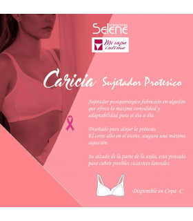 Sujetador Protésico Postquirúrgico Caricia de Creaciones Selene copa-C Cod:147