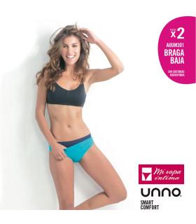 Pack-2 Braga Baja UNNO sin costuras microfibra ref. UM301