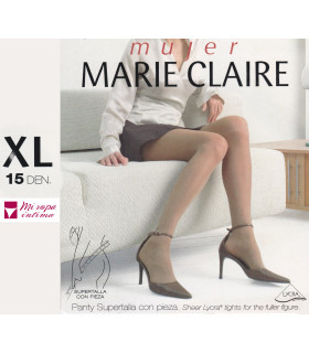 Panty SUPER TALLA con Pieza 15 DEN Marie Claire 4446