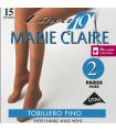 TOBILLERO DE MARIE CLAIRE LYCRA 15DEN-2 PARES 2540