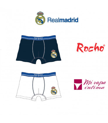 Pack-2 Boxer de Niño Real Madrid Producto Oficial ROCHO mod-601N