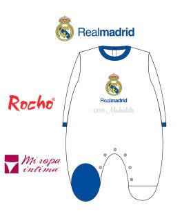 Pelele de bebe tondosado Real Madrid producto oficial ROCHO RM 101