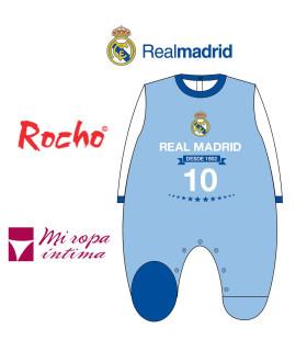 PELELE DE BEBE TONDOSADO REAL MADRID 1902 PRODUCTO OFICIAL ROCHO RM 102
