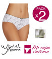 PACK-2 CULOTTE FANTASIA COTTON YSABEL MORA Ref. 19882