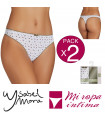 PACK-2 TANGA FANTASIA COTTON DE YSABEL MORA REf.19881