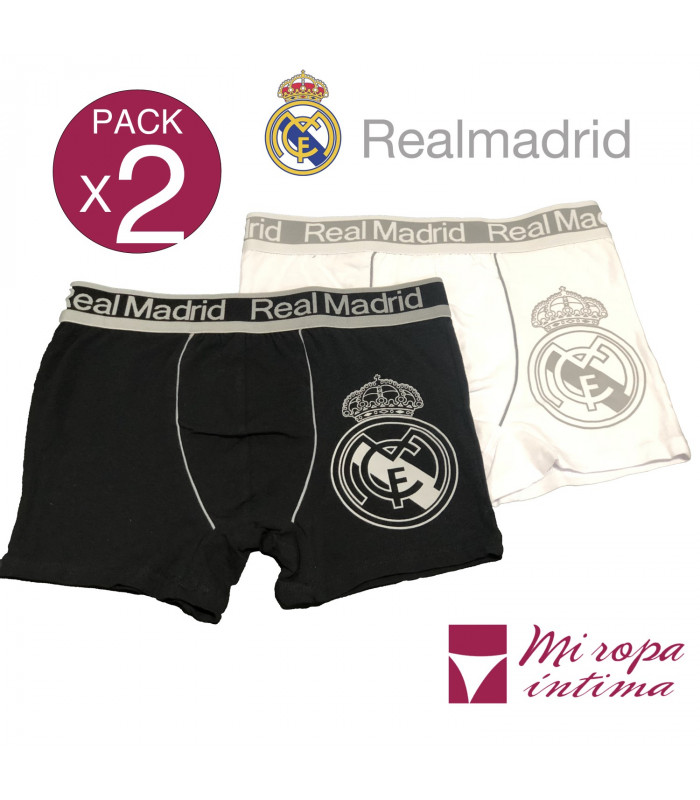 Pack-2 Boxer de Caballero Real Madrid Producto Oficial ROCHO mod-603