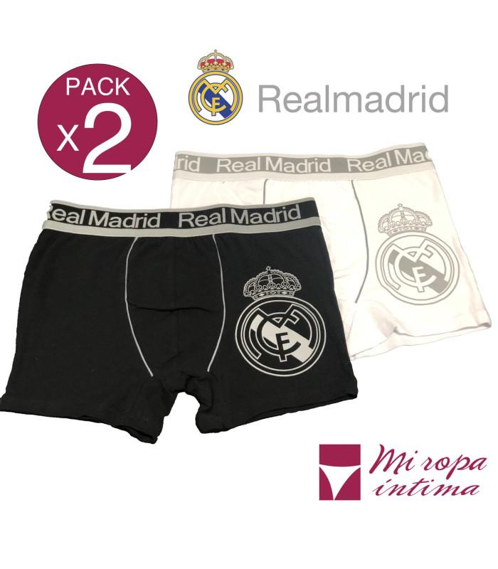 Pack-2 Boxer de Caballero Real Madrid Producto Oficial ROCHO mod-603