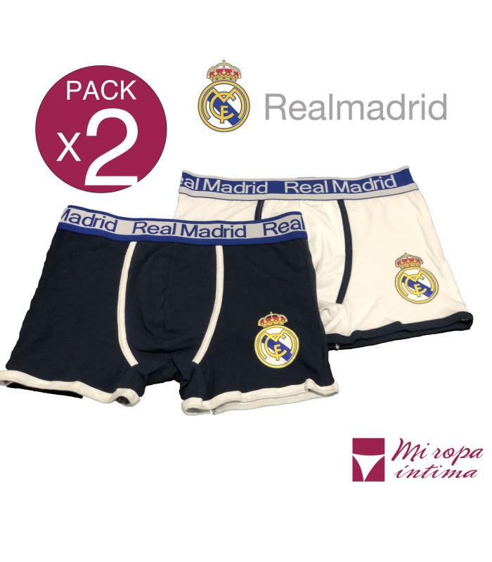 Pack-2 Boxer de Caballero Real Madrid Producto Oficial ROCHO mod-602