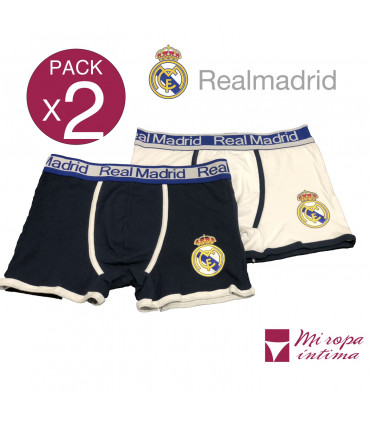 Pack-2 Boxer de Caballero Real Madrid Producto Oficial ROCHO mod-602