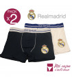 PACK-2 BOXER DE CABALLERO REAL MADRID PRODUCTO OFICIAL ROCHO MOD-601