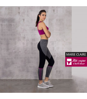 LEGGING TRICOLOR BENEFIT GYM MARIE CLAIRE REF. 54104