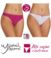 PACK-2 TANGA DE FANTASIA COTTON SW YSABEL MORA ref: 19874