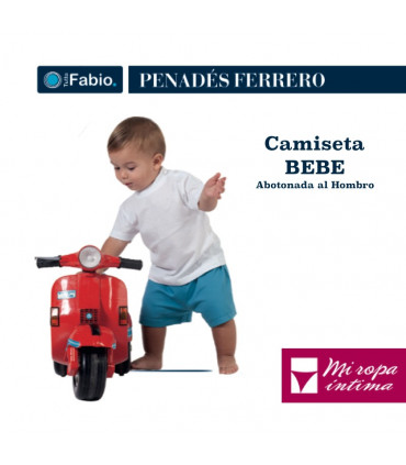 CAMISETA DE BEBE DE MANGA CORTA LISA DE ALGODÒN DE FABIO REF:8124