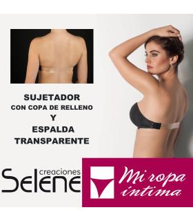 SUJETADOR CON ESPALDA INVISIBLE Y SIN TIRANTES DE COPA-C DE SELENE MODELO MAGDALENA REF: 183