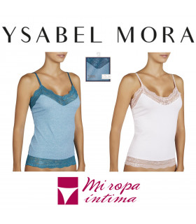 CAMISETA DE TIRANTE FINO DE SEÑORA DE WINTER COLLECTION DE YSABEL MORA REF:19966
