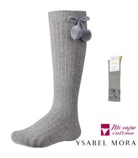 CALCETIN INFANTIL ALTO CON BORLON DE YSABEL MORA REF: 02833