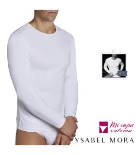 CAMISETA DE MANGA LARGA DE ALGODON PARA HOMBRE DE YSABEL MORA REF: 20106