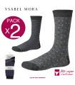 PACK-2 CALCETINES FANTASIA DE HOMBRE DE YSABEL MORA REF:22676
