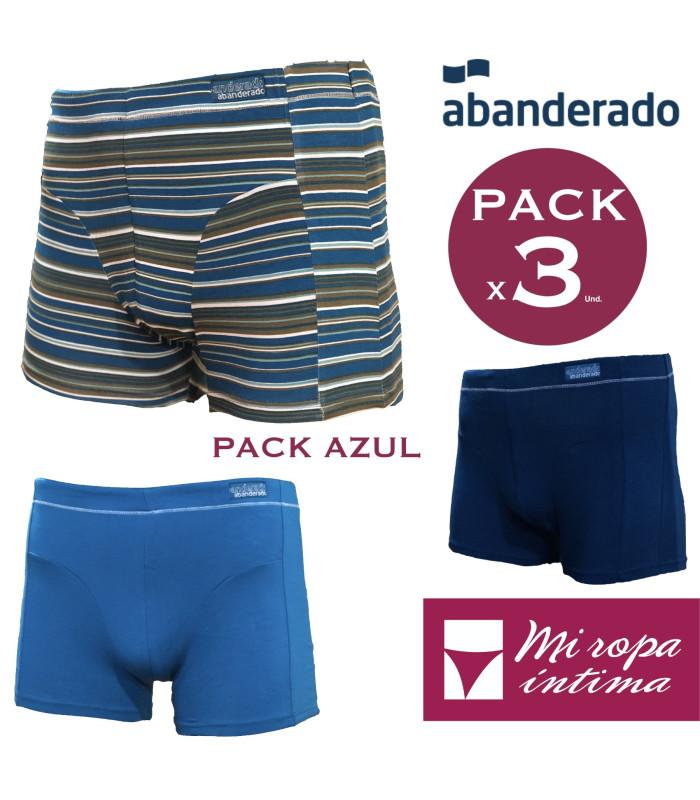 """PACK-3 Boxer Linea """"LOS ESENCIALES"""" by ABANDERADO Ref.A048U"""