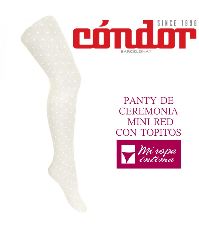 PANTY DE CEREMONIA MINI RED CON TOPITOS DE CONDÓR REF: 4.575/1